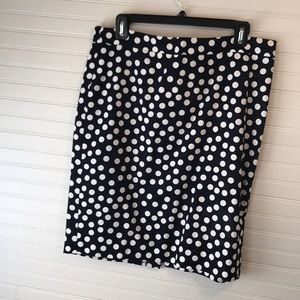 J Crew Polka Dot Pencil Skirt
